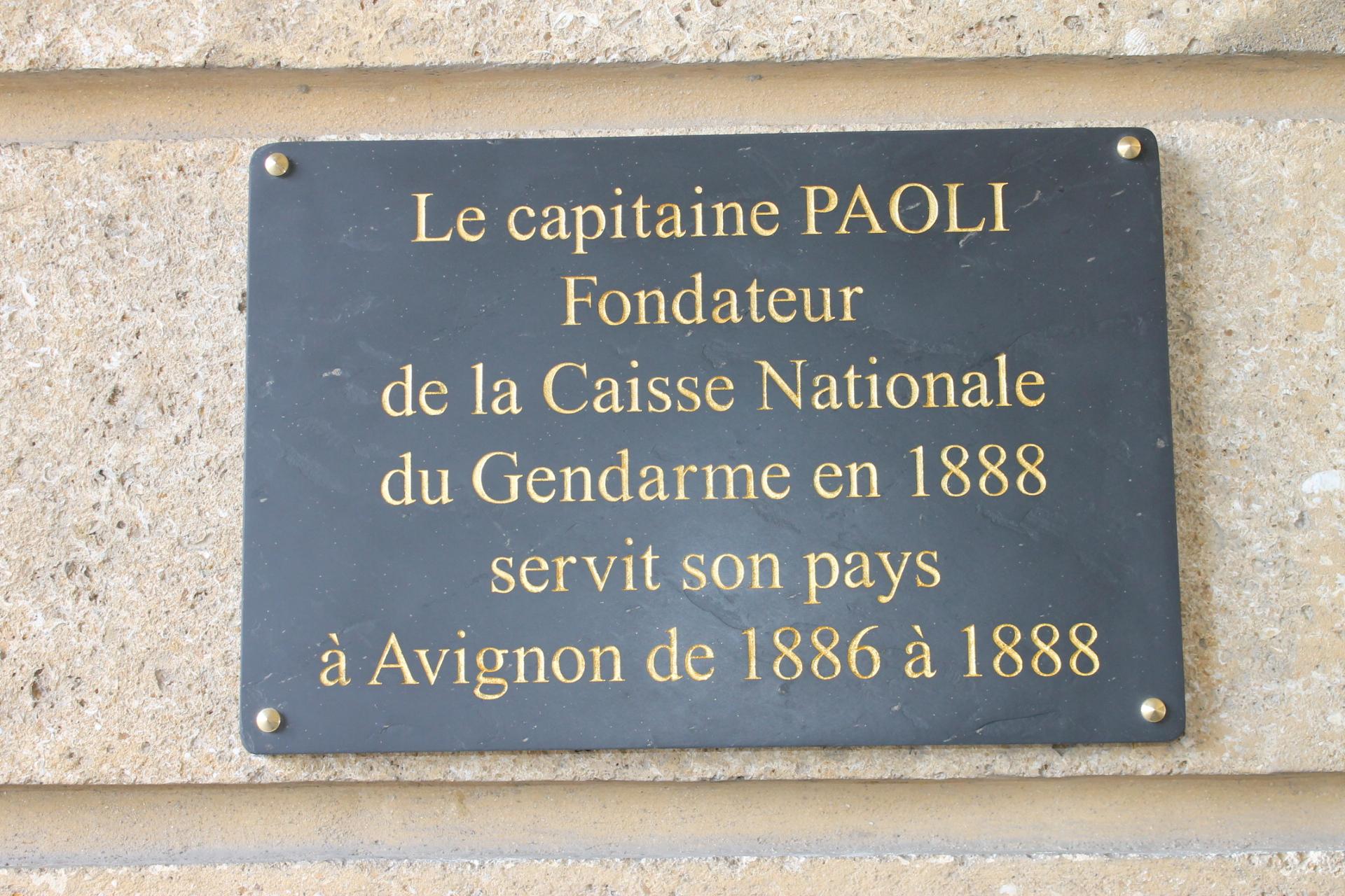 Inauguration plaque gendarmerie