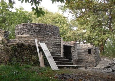 N° 4Construction du muret au dessus du liteau