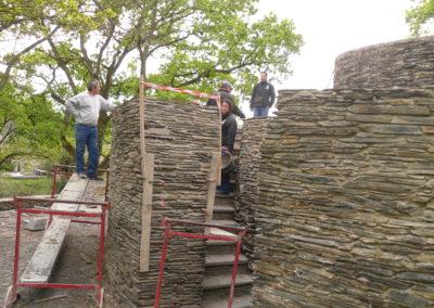 Escalier et mur