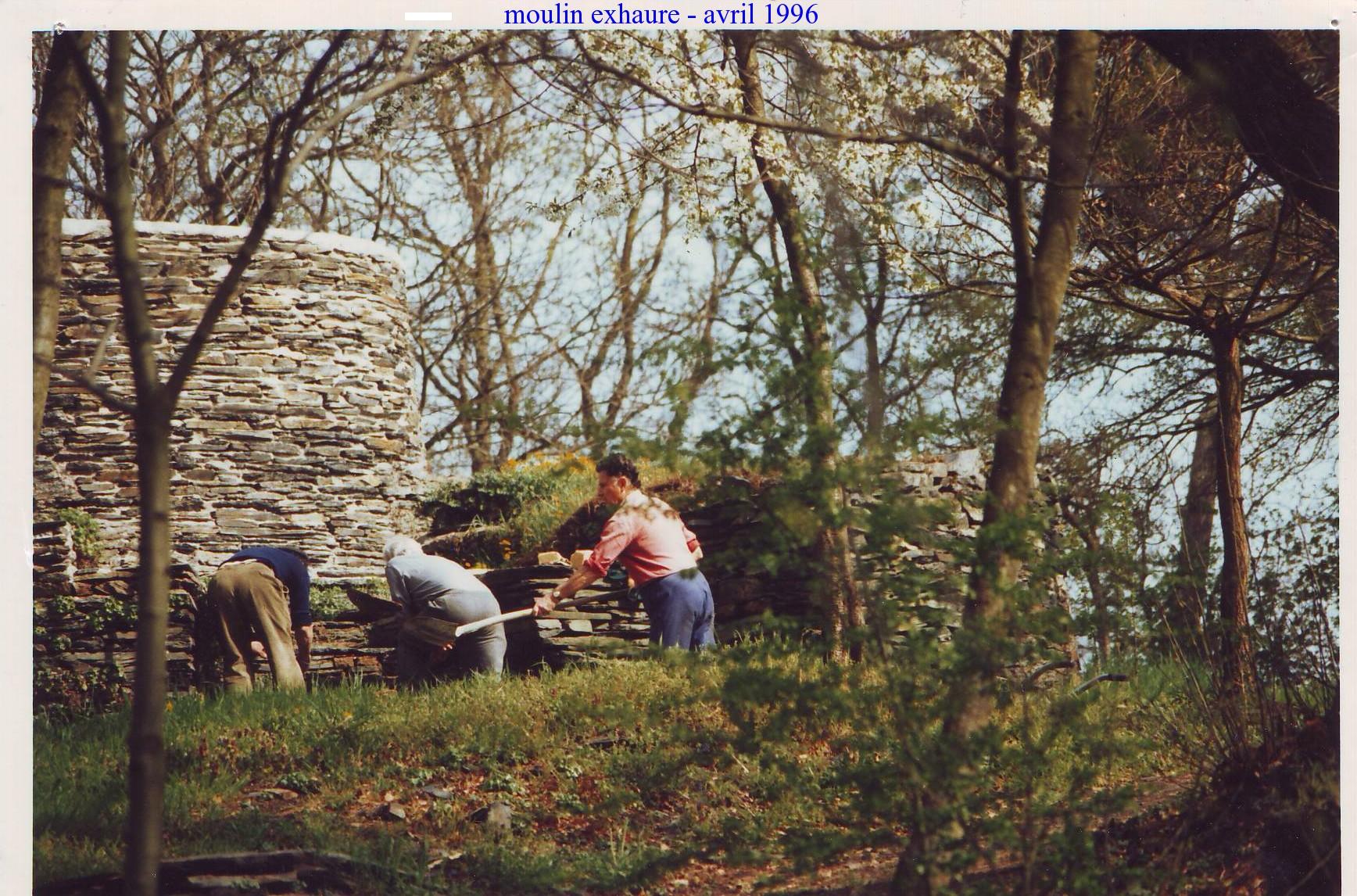 3- 1ère restauration par les bénévoles en 1996