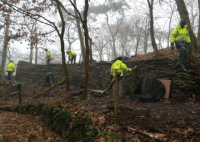 Mur en travaux