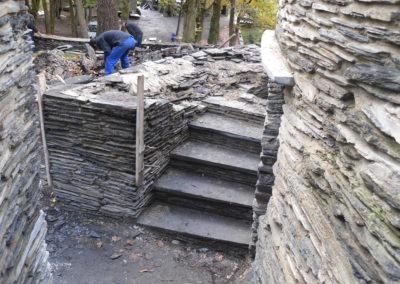 Poursuite du montage de l'escalier