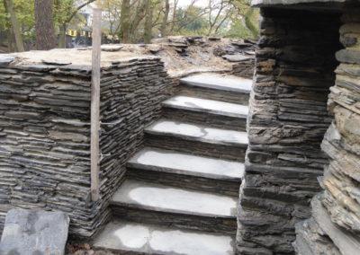 Montage escalier et mur