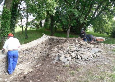 Construction du mur d'enceinte