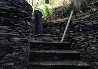 Mur de l'escalier