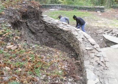 Mur monté